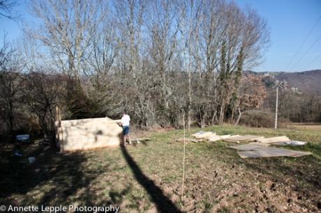 Bau Gartenhaus Mas de Béty